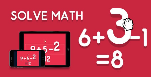 Solve Math - HTML5 Game - CodeCanyon Item for Sale
