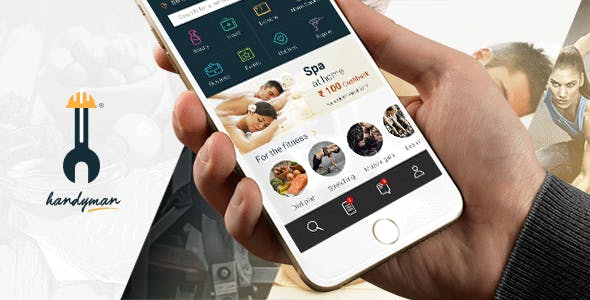 Service Marketplace App Ionic 3 Template- Handyman