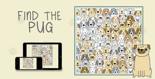 Find The Pug - HTML5 Game