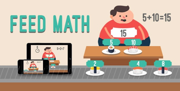 Feed Math - HTML5 Game - CodeCanyon Item for Sale