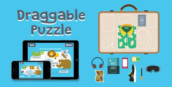 Draggable Puzzle - HTML5 Game
