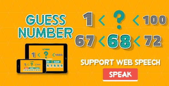 Guess Number - HTML5 Game - CodeCanyon Item for Sale