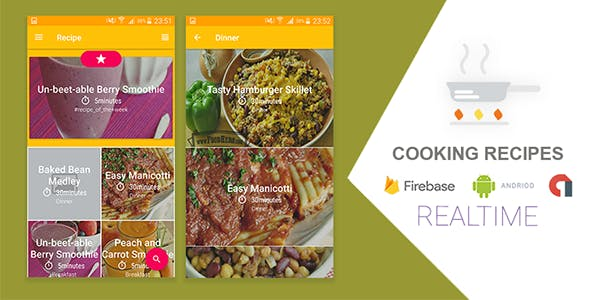 Cooking Recipes Realtime Application with Firebase