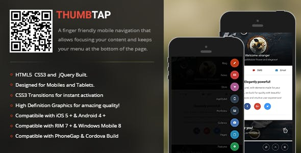 ThumbTap | Creative Navigation for Mobile & Tablets