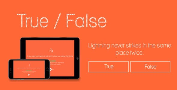 True or False - HTML5 Game
