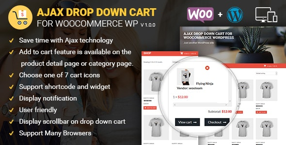 Ajax Drop Down Cart for WooCommerce Wordpress - CodeCanyon Item for Sale