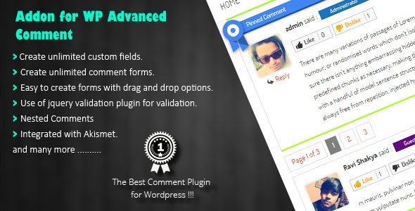 WP Advanced Comment - CodeCanyon Item for Sale