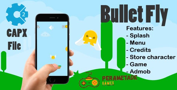 Bullet Fly - HTML5 Game - Construct 2 CAPX