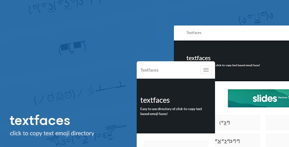 Textfaces - Text based emoji directory - CodeCanyon Item for Sale