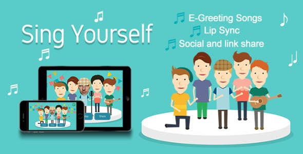 Sing Yourself (Greeting Card) HTML5 Canvas