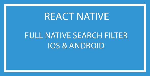 React Native Search Filter Plugin
