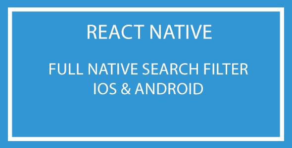 React Native Search Filter Plugin - CodeCanyon Item for Sale
