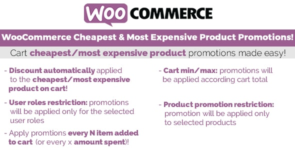 WooCommerce Cheapest & Most Expensive Product Promotions! - CodeCanyon Item for Sale