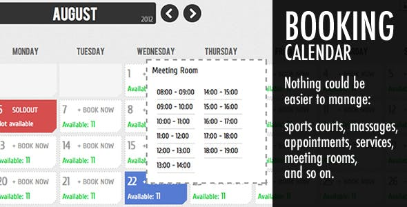 Booking Calendar        Nulled