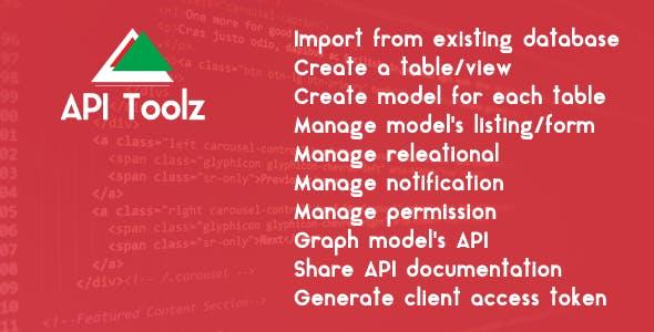 API Toolz - PHP Laravel v5.4 Backend + Restful API GUI Tools