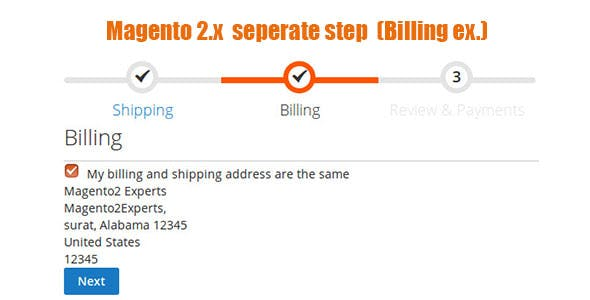 Magento 2 Addtional Checkout Step Billing