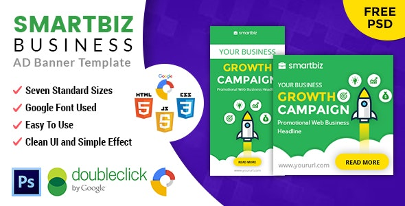 Smartbiz Creative Agency | HTML5 Google Banner Ad - CodeCanyon Item for Sale