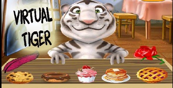 Virtual pet tiger template