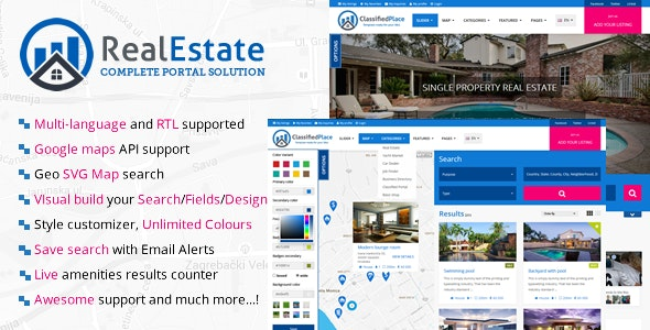 Real Estate Geo Portal by sanljiljan | CodeCanyon
