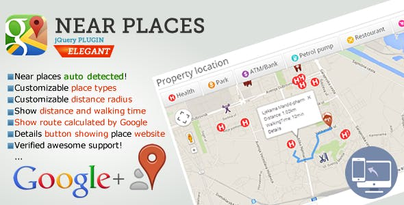 Nearby Places jQuery plugin