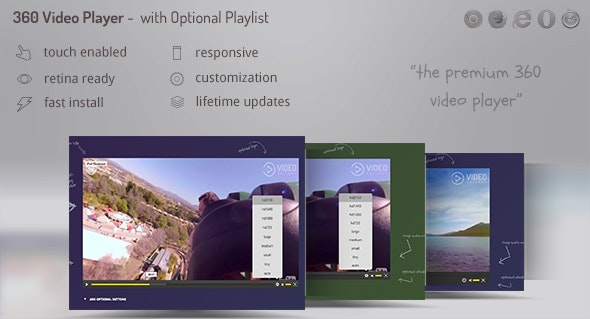Video Player 360 WordPress - Video Gallery DZS Add On - CodeCanyon Item for Sale