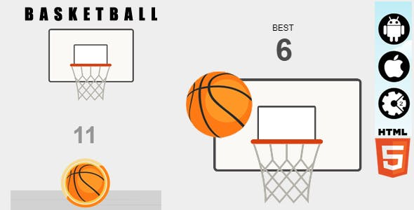 Basketball - HTML5 Game - Construct2 &  Construct3 CAPX