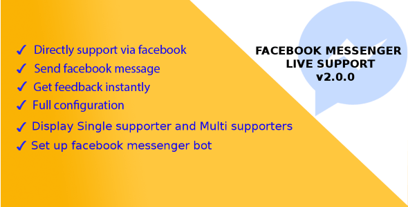 Magento 2 Facebook Messenger Live Support