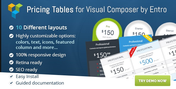 Ultimate VC Pricing Tables by Entro - CodeCanyon Item for Sale
