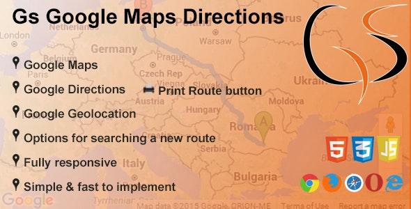 GS Google Maps Directions - CodeCanyon Item for Sale