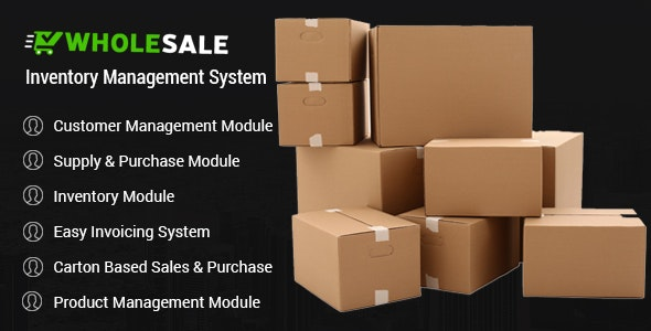 Wholesale - Inventory Control and Inventory Management System - CodeCanyon Item for Sale