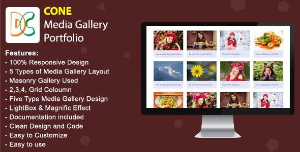 CONE - Media Gallery Portfolio