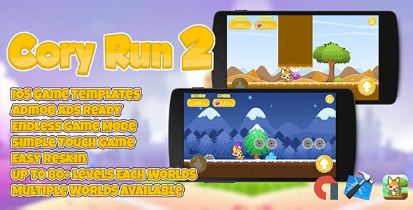 Cory Run 2 + Admob (Multiple Worlds)  IOS XCODE