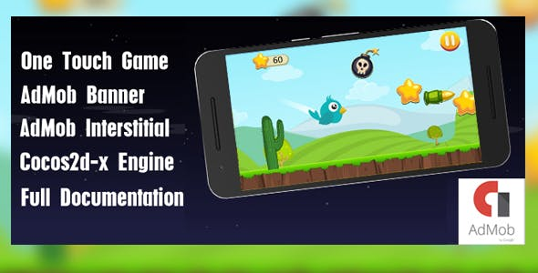 Flipo Bird Jumper - iOS Game with Admob