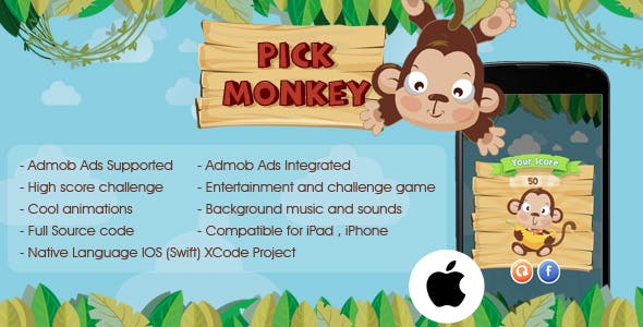 Pickup Monkey iOS Admob Ads