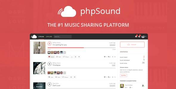 phpSound - Music Sharing Platform - CodeCanyon Item for Sale