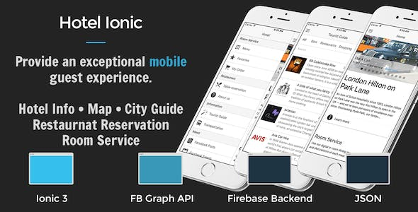 Hotel Ionic - Full Application with Firebase backend