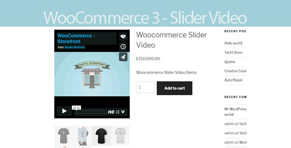 Woocommerce 3 Slider Video