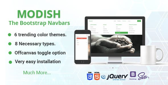 Modish - The Bootstrap Navbars