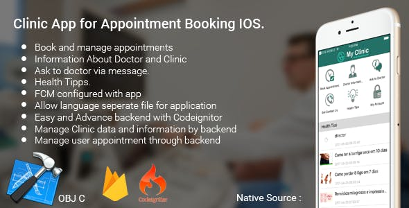 IOS Clinic Appointment Booking App