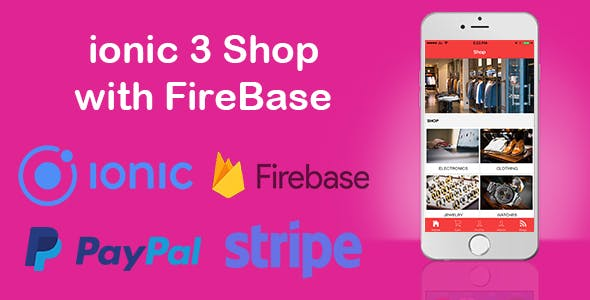 ionic and Firebase Shopping Cart App