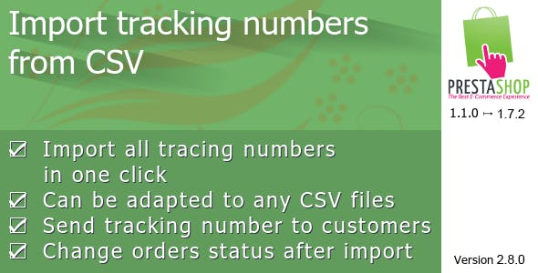 Prestashop Tracking Number Import