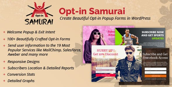 Opt-in Samurai - Create Beautiful Opt-in Popup Forms in WordPress
