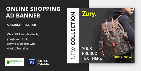 Online Shopping - HTML5 Animated Banner 22