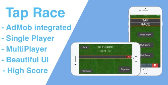 Tap Race iOS Game with AdMob