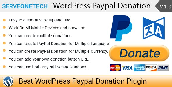 WordPress PayPal Donations