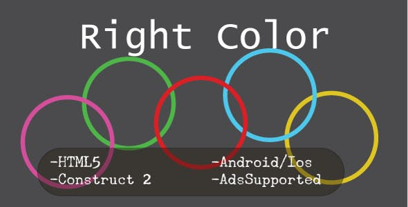 Right Color (HTML5 Game + Construct 2 CAPX)