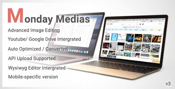 MondayMedias - Management files and Integration for CMS - CodeCanyon Item for Sale