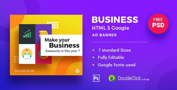 Business | HTML5 Google Banner Ad 19