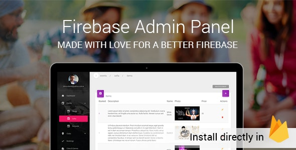 Firebase And Firestore FireAdmin - admin panel console by