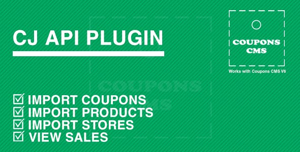 CJ Plugin for Coupons CMS